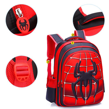 Waterproof Spiderman Boy Girl Children Kindergarten School Bag