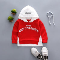 Children Cotton Leisure Hooded Sweatshirts For 0-5 Years