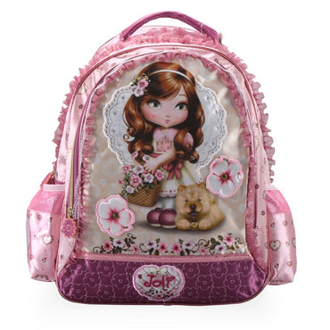 Children Backpack Primary Bookbag Princess flower Schoolbags