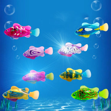 Summer Children Electronic Toy Interesting Light Sensing Simulation Fish Baby