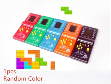 Retro Classic Childhood Tetris Handheld Game Players LCD Electronic Games