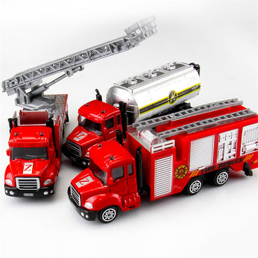 1 PC Mini Toy Vehicle Model Alloy Diecast Engineering Construction Fire Truck