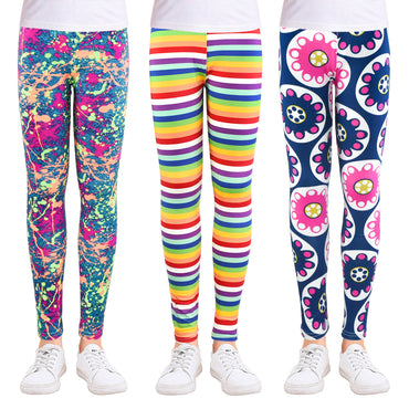 Girls Leggings Camo Soft Cotton Printing Flower Pencil Pants