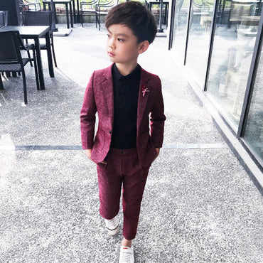 Baby Boys Suits Costume  Autumn Single Breasted Kids Blazers