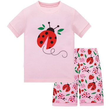 Kids Pajamas Set Short Sleeve cotton sleepwear for girl and boys