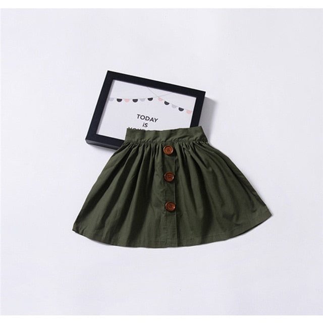 New Arrival Single-Breasted Girls Skirts