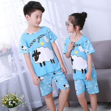 Children Short Pajamas Sets Cute Sleepwear