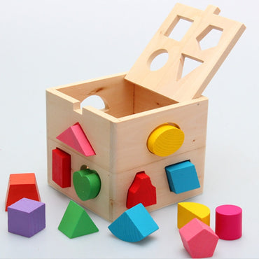 Developmental Toy, Easy-to-Grip Shapes, Sturdy Wooden Construction
