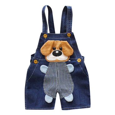 Cute Cartoon Toddler GiJeans Infant Jeans Strap Pants