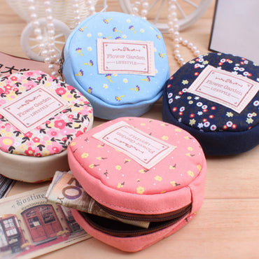 Wallet Zipper Floral Card Holder Cute Key Pouch Korean Small Money Pocket