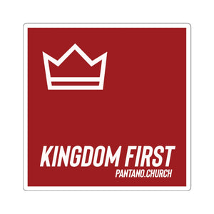 Kingdom First - Square Stickers