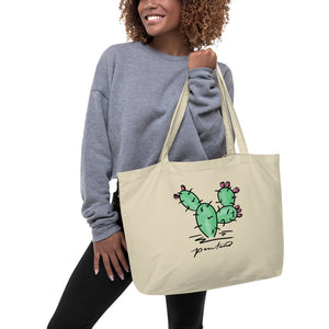 Prickly Pear Large organic tote bag