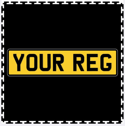 Custom Number Plate Printed Tile (500mm x 500mm)