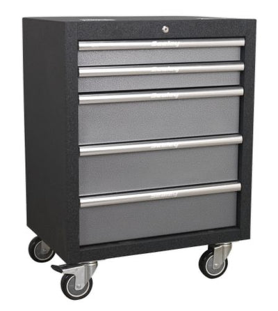 SEALEY 5 DRAWER ROLLER CABINET GSRC09 - SUPERLINE PRO RANGE