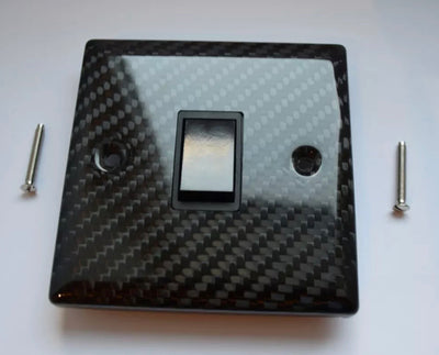 Real Carbon Fibre Light Switch
