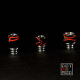 Drip Tip by Vince - Black/Red swirls
