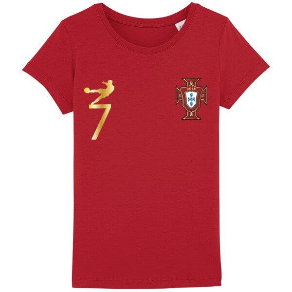 Tee shirt Portugal 2018 fille
