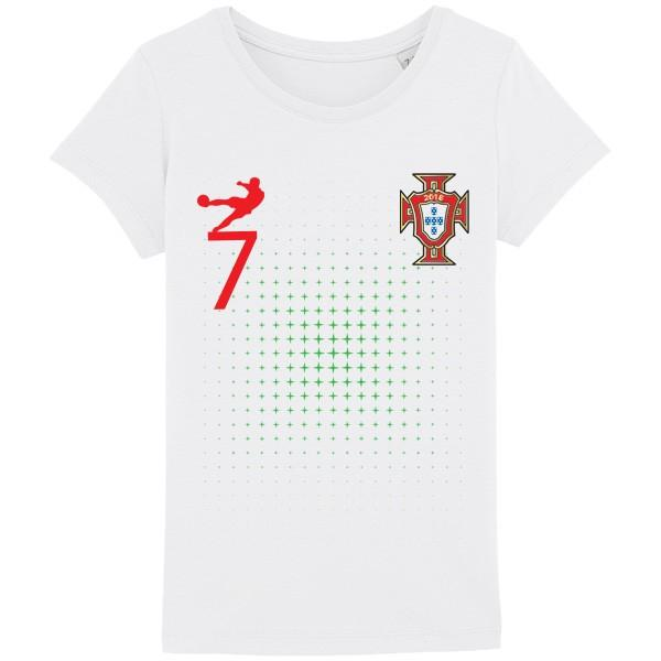 Tee shirt Portugal Junior Fille