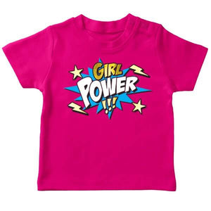 t shirt original bebe fille girl power wonder woman