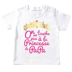 t shirt bebe original, on ne touche pas a la princesse de papa