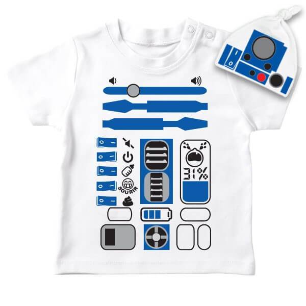 T-shirt bébé Star Wars R2D2 - PETIT DEMON