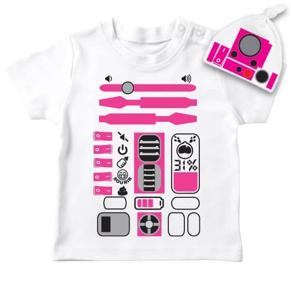 Bébé T-Shirt Star Wars R2D2 Fille - PETIT DEMON