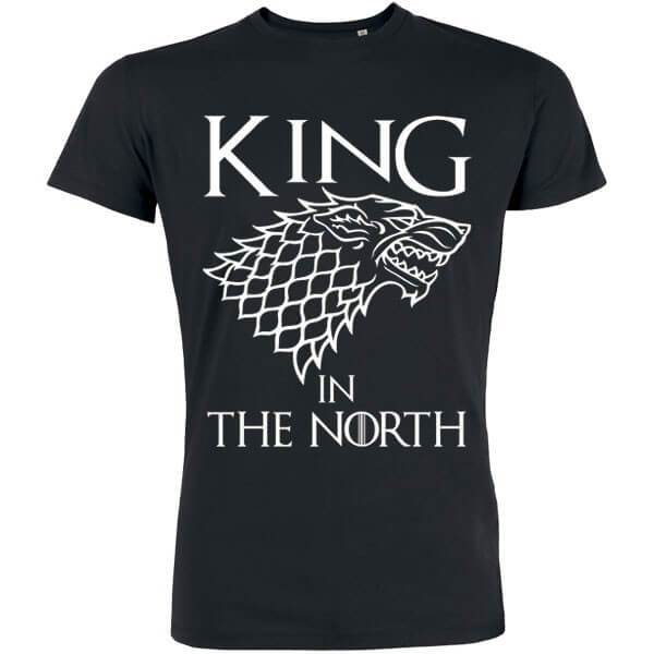 t shirt cadeau papa Stark, game of throne, the king of the north