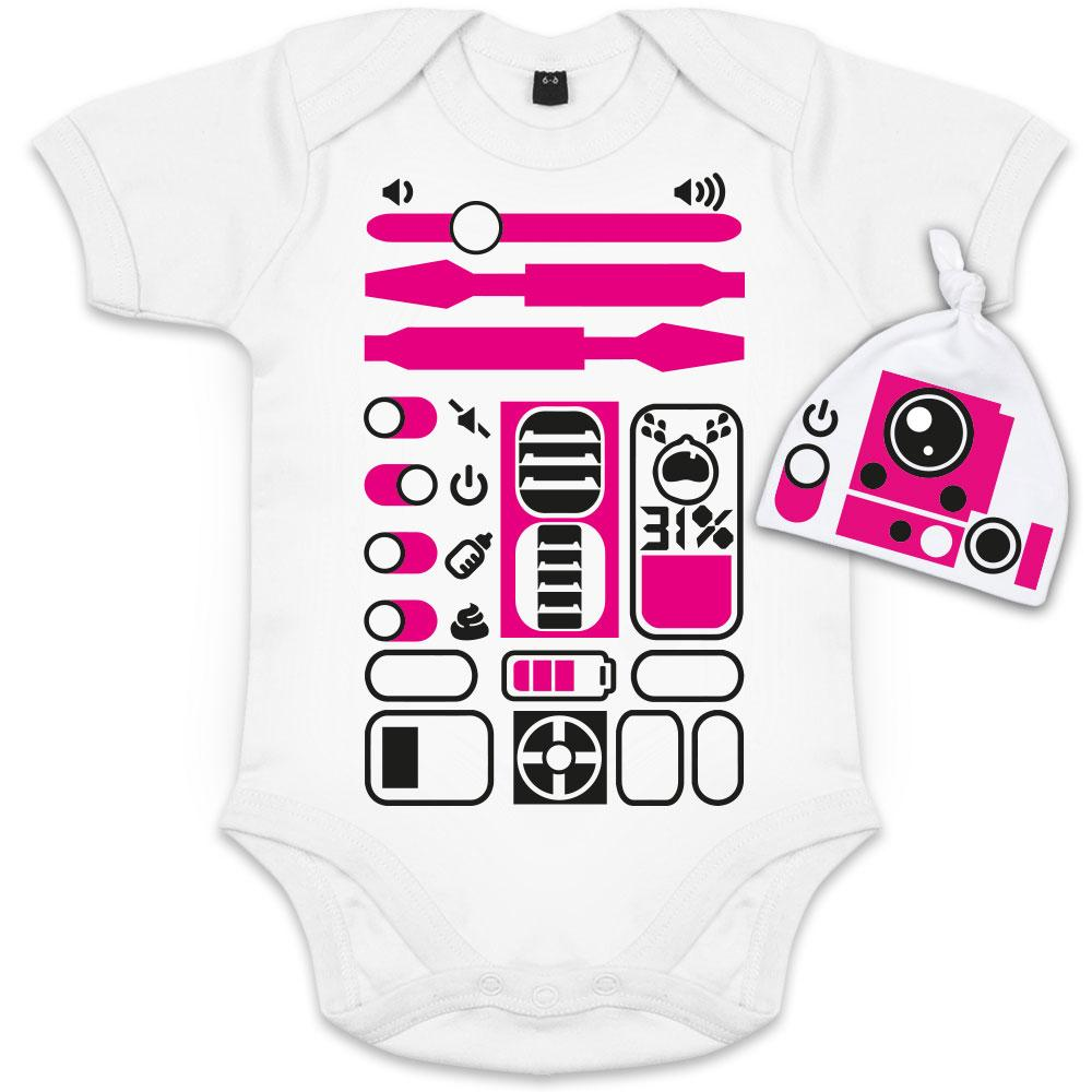 body bebe rigolo r2d2 fille starwars