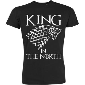 t shirt homme king in the north game of trone