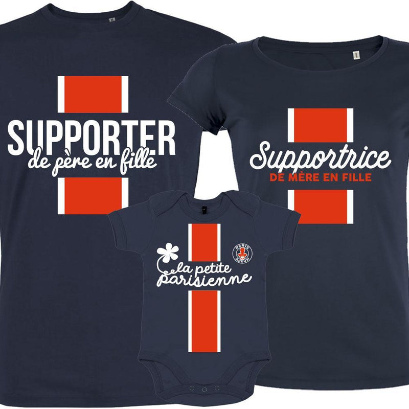 T SHIRT PSG SUPPORTEUR DE PERE EN FILLE