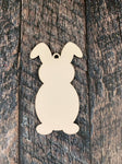Easter Bunny Sublimation Hardboard Single Sided Ornament