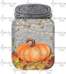 Fall Mason Jar Sublimation Design