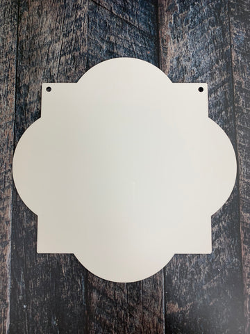 SMALL Quatrefoil Sublimation Door Hanger Hardboard Blank