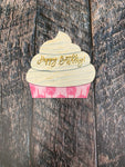 Cupcake Truck Attachment Sublimation Door Hanger Hardboard Blank