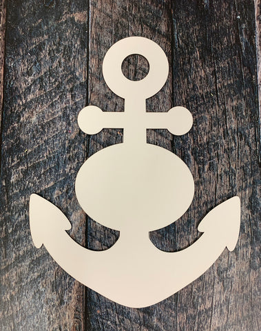 Anchor Sublimation Door Hanger Hardboard Blank