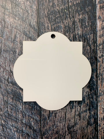 Quatrefoil Sublimation Hardboard Single Sided Ornament