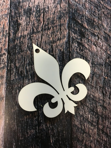 Fleur de Lis Sublimation Hardboard Single Sided Ornament
