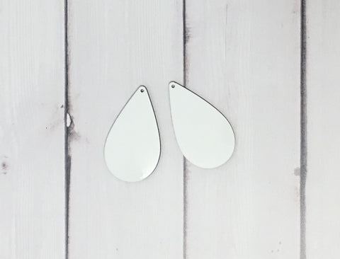 Large Single Sided Drop Earring Sublimation Blanks