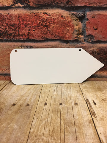 Small Pencil Shaped Sublimation Door Hanger Hardboard Blank