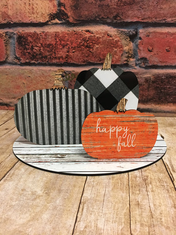 Pumpkin Centerpiece Hardboard Sublimation Blank