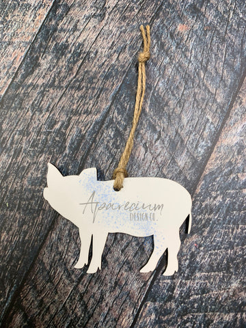 Pig Sublimation Hardboard Single Sided Ornament