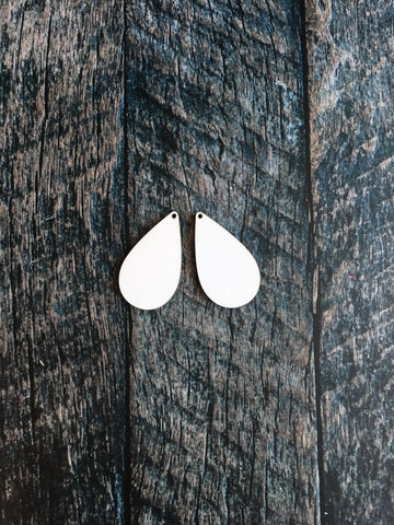 Small Single Sided Drop Earring Sublimation Blanks