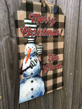 Christmas Gift Tag Sublimation Door Hanger Hardboard Blank