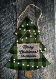 Christmas Tree Sublimation Door Hanger Hardboard Blank
