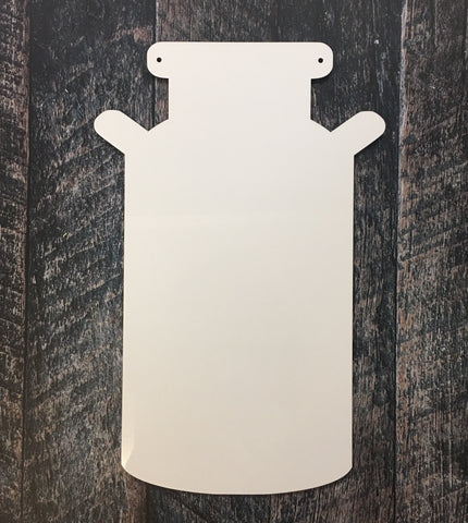 Milk Can Sublimation Door Hanger Hardboard Blank