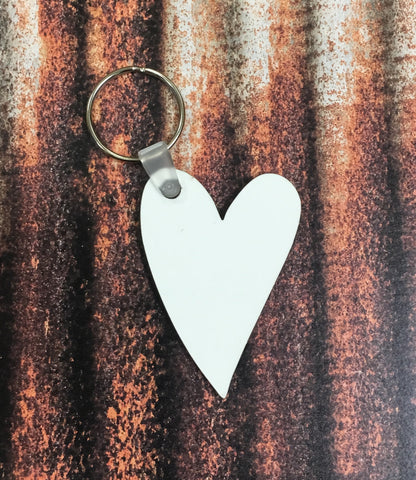 Heart Keychain Sublimation Blanks