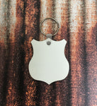 Police Badge Keychain Sublimation Blanks