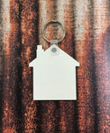 House Keychain Sublimation Blanks