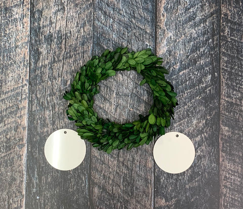 "8"" Boxwood Mini Wreath Sublimation Kit"