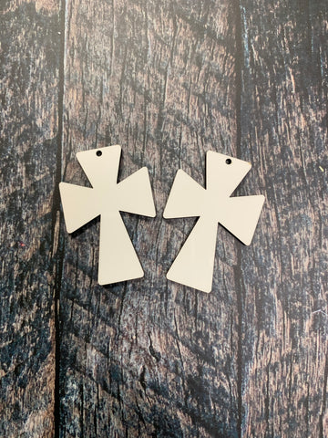 Cross Earring Sublimation Blanks